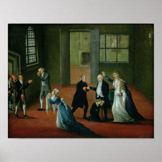 Adiós que hace una oferta de Louis XVI a su famili Impresiones