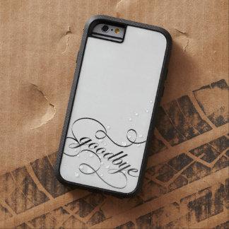 Adiós remolinos elegantes del caso B&W de Iphone Funda De iPhone 6 Tough Xtreme