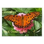 Adiós tarjeta de la mariposa