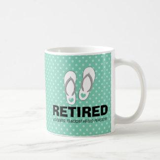 Adiós taza divertida del retiro de la pensión de