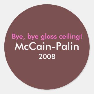 ¡Adiós, techo de cristal del adiós! Parachoque de Pegatina Redonda