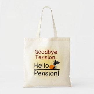 Adiós tensión, hola retiro divertido de la pensión bolsas