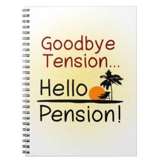 Adiós tensión, hola retiro divertido de la pensión libro de apuntes