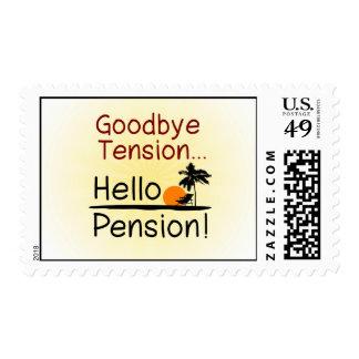 Adiós tensión, hola retiro divertido de la pensión sello
