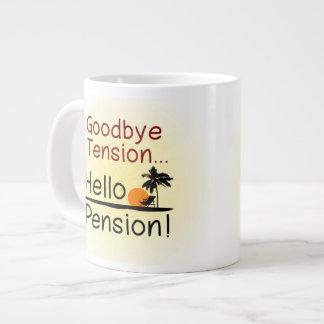 Adiós tensión, hola retiro divertido de la pensión taza grande