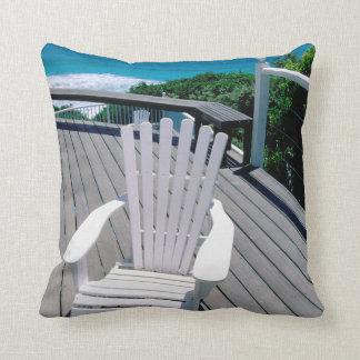 Adironak Chair On Porch Throw Pillow