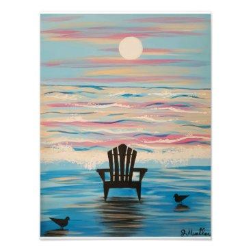 paintingbuzz Adirondack Beach Chair 12x16 print