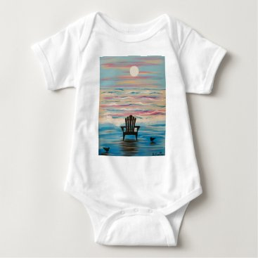 Beach Themed Adirondack Beach Chair Baby Bodysuit