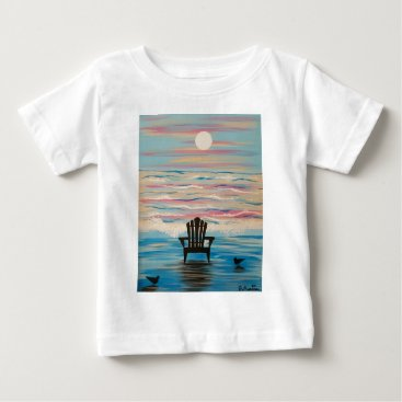 Beach Themed Adirondack Beach Chair Baby T-Shirt