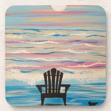 Beach Themed Adirondack Beach Chair Coaster