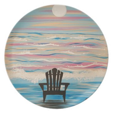 Beach Themed Adirondack Beach Chair Dinner Plate