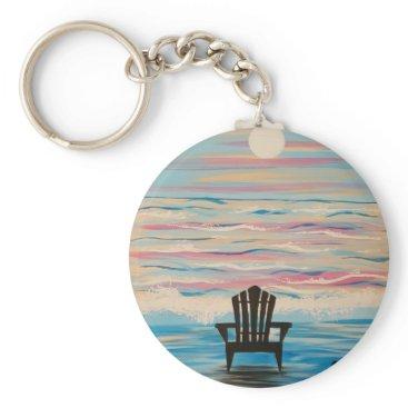Beach Themed Adirondack Beach Chair Keychain