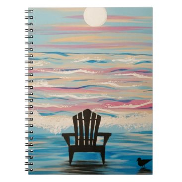 Beach Themed Adirondack Beach Chair Notebook