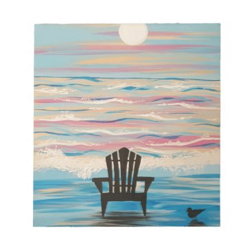 Beach Themed Adirondack Beach Chair Notepad