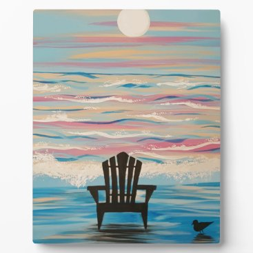 Beach Themed Adirondack Beach Chair Plaque