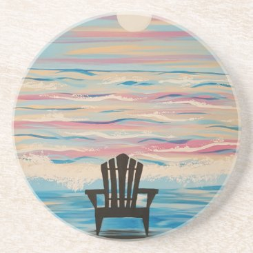 Beach Themed Adirondack Beach Chair Sandstone Coaster