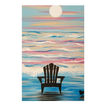 Beach Themed Adirondack Beach Chair Stationery