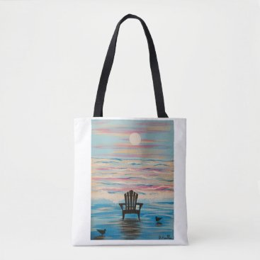 Beach Themed Adirondack Beach Chair Tote Bag