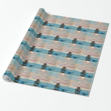 Beach Themed Adirondack Beach Chair Wrapping Paper