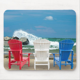 Adirondack Beach Chairs Mouse Pad
