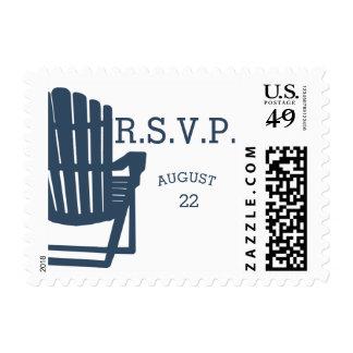 Adirondack Beach Chairs Navy Blue Stamp