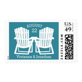 Adirondack Beach Chairs Stamps