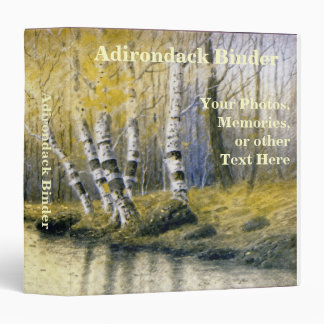 Adirondack Birch Trees with Yellow Leaves 3 Ring Binder