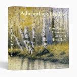 Adirondack Birch Trees with Yellow Leaves Vinyl Binders