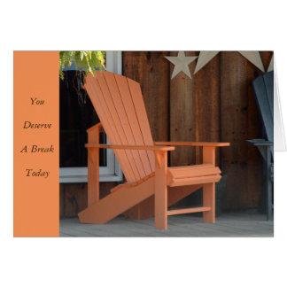 Adirondack Chair Card