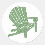 Adirondack Chair Classic Round Sticker