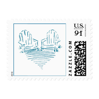 Adirondack Chair Heart Stamps