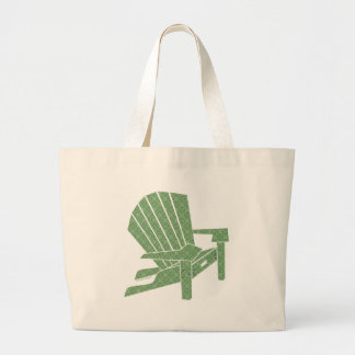 Adirondack Chair Large Tote Bag