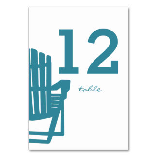 Adirondack Chair Table Number Card