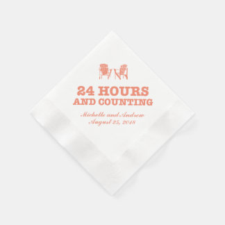 Adirondack Chairs | 24 Hours and Counting Coined Cocktail Napkin