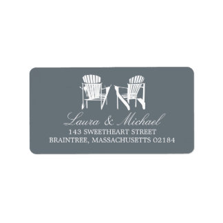 Adirondack Chairs | Address Custom Address Label