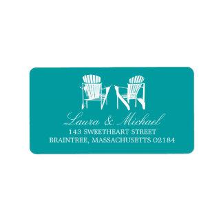 Adirondack Chairs | Address Personalized Address Label