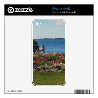 Adirondack Chairs Along the Shore in East Boothbay Decal For The iPhone 4S