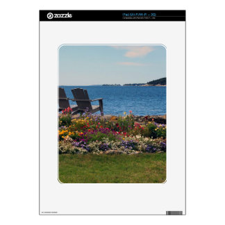 Adirondack Chairs Along the Shore in East Boothbay Decals For The iPad