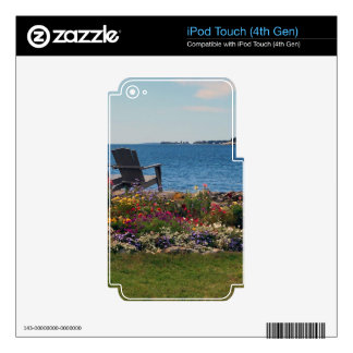Adirondack Chairs Along the Shore in East Boothbay iPod Touch 4G Skin
