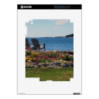 Adirondack Chairs Along the Shore in East Boothbay Skin For iPad 2