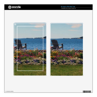 Adirondack Chairs Along the Shore in East Boothbay Skins For Kindle Fire