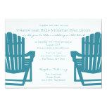 Adirondack Chairs Beach Wedding 5x7 Paper Invitation Card