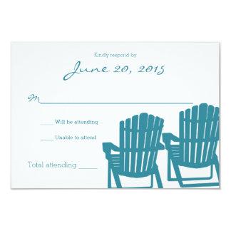 Adirondack Chairs Beach Wedding Response Card