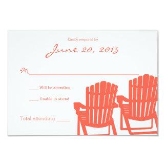 Adirondack Chairs Cora Beach Wedding Response Card