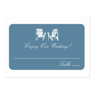 Adirondack Chairs | Escort Cards Large Business Card