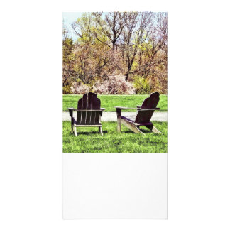 Adirondack Chairs In Spring Card