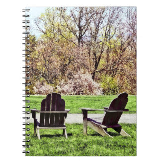 Adirondack Chairs In Spring Notebook