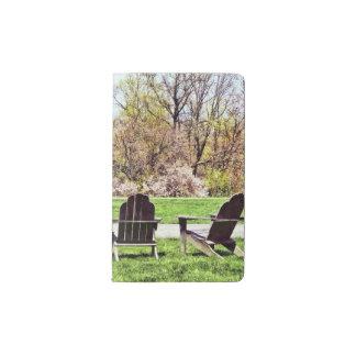 Adirondack Chairs In Spring Pocket Moleskine Notebook