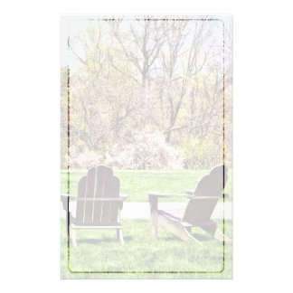 Adirondack Chairs In Spring Stationery