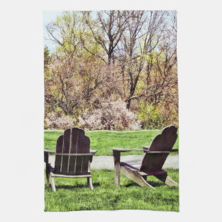 Adirondack Chairs In Spring Towel